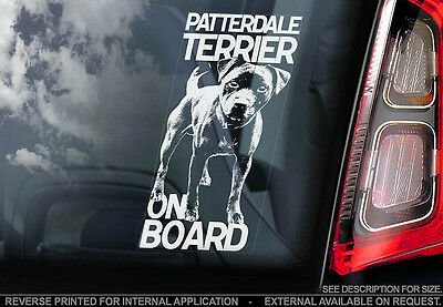Patterdale Terrier - Car Window Sticker - Dog Sign -V01