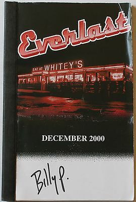 """Rare 2000 Everlast """"Eat At Whitey's"""" Dec. Tour Itinerary 8 1/2 X 6"""" Book Concert"""