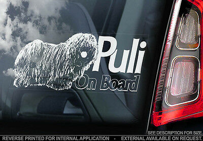 Puli - Car Window Sticker - Dog Sign -V01