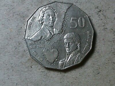 Australia 50 cents 1998 Discovery of Bass Strait