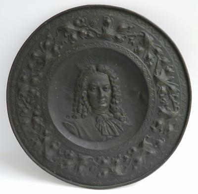 Rare antique 19th c George Frideric Handel relief wall hanging by J.J. Labaer