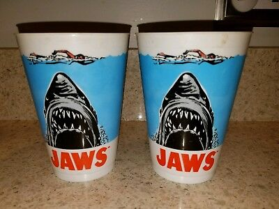 Vintage Jaws Promotional 7-11 Slurpee Cup 1975 Rare Lot of 2 Cups