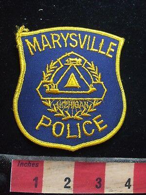 Michigan Patch MARYSVILLE POLICE S77I