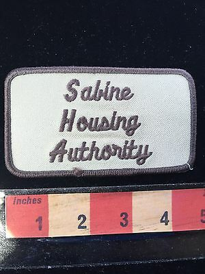 Vintage SABINE HOUSING AUTHORITY Louisiana Patch USA State Collectible 66WI