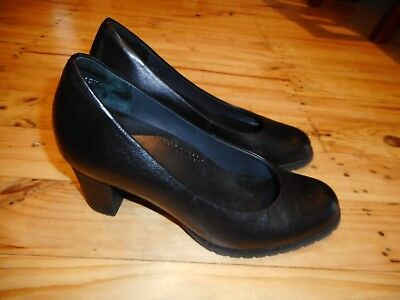 Womens Ziera Black Leather Shoes Size 39.5 / 9