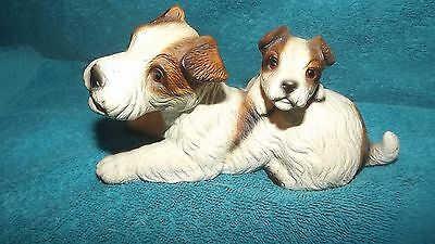 Harvey Knox Terrier Dog Statue Figurine House Of Global Art Japan Mother Puppy