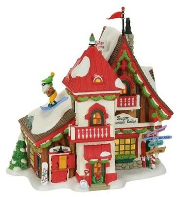 Dept 56 North Pole Sugar Mountain Lodge #4059383 NEW Mid-Year 2017 Free Shipping