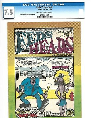 Fabulous Furry Freak Brothers # 1 , 5, 3-D Feds N Heads # 1 1St App. First Print