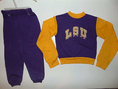 LSU TIGERS Toddler Jersey and Pant Outfit 3T 4T 3 T 4  Kids College Football NEW