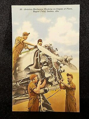 Vintage  Postcard Mechanics Napier Field Alabama