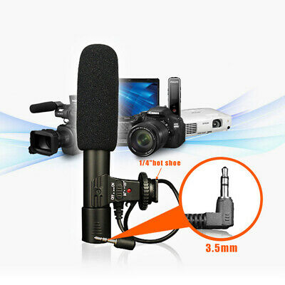 Sidande External DSLR DV Camera Camcorder Microphone Shotgun Mic for Canon Nikon