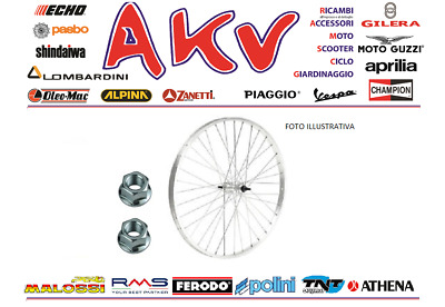 Ruota Cerchio Posteriore Bici City Bike 28'' 7/8 V. Perno Filetto 700X35 Allum.