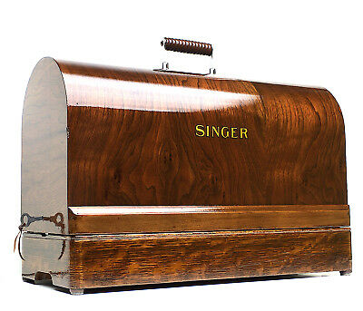 SINGER Sewing Machine TigerWood Bentwood Case 1930s Full Size Restored by 3FTERS