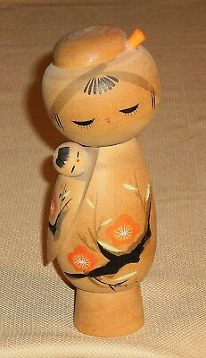 Vintage Japan Creative こけし こけし KOKESHI Doll Signed Wood Hand Painted 593r