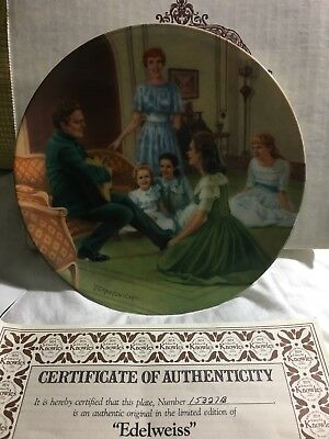 """The Sound Of Music Collector's Plate """"Edelweiss"""""""