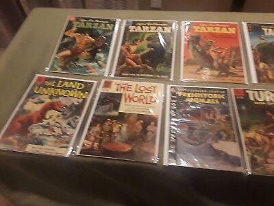 Huge Dell Gold Key Lot Turok Tarzan Dinosaur Related Collection Golden Age N/r