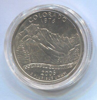 2006 US State Quarter Coin Enclosed in Plastic Case - COLORADO  #Q81