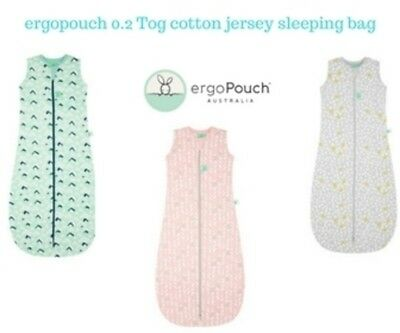 ergoPouch 0.2 TOG Summer Cotton Jersey Sleeping Bag 3 Colours FREE SHIPPING