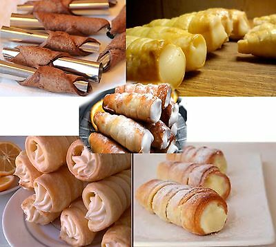 SETS 10-20- 40 pcs.DESSERT PASTRY TUBES METAL MOLDS FORMS RURKI CANNOLI ТРУБОЧКИ