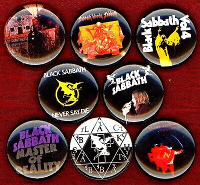 Black Sabbath 8 NEW button pin badges ozzy dio master of reality bloody