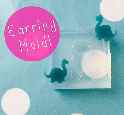 EARRING MOLD - Diplodocus Shape Dinosaur Craft Resin Silicone Earrings Mould