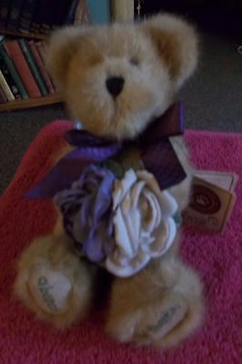 "The Boyds Collection Teddy Bear Flora Thanksabunch Thank You 8"" Soft Plush Toy"