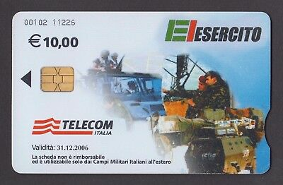 ELESERCITO - ITALIAN MILITARY FIELDS - Kosovo 2006 Used phone card 10 €