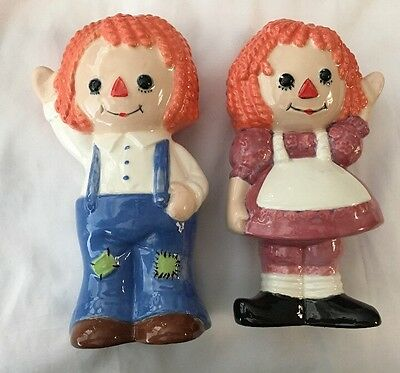 Raggedy Ann And Andy Collectible Ceramic Figurines