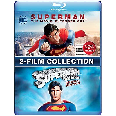 SUPERMAN THE MOVIE + extended cut  -  BLU RAY- Sealed Region free