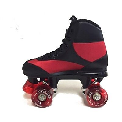 New California Pro Cyclone Quad Roller Skates Unisex Boys Mens  - Black/Red