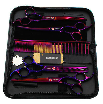 """7.0"""" Pet Hair Cutting Scissors Dog Grooming Thinning and Curved Shears"""