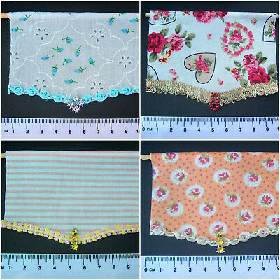 Handmade Miniature 1/12th scale dolls house fixed roller blind. Various.