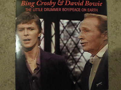 """David Bowie & Bing Crosby 7"""" Red Clear Vinyl Very Rare Ltd Issue 2010 Brand New"""