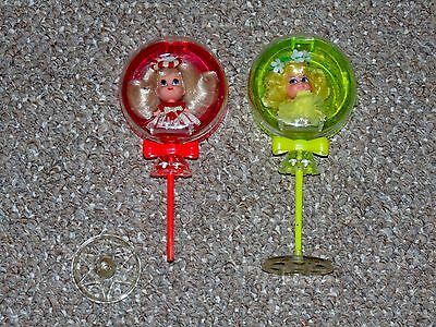 1968 Mattel Liddle Kiddles Sweet Treat Lollipop Lolli-Mint & Lolli-Lemon Lot
