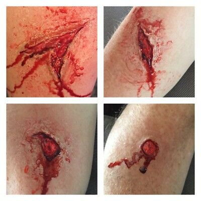 Multi wound kit inc Gash, Bullet CutFX makeup SFX Special Effects Gory Halloween