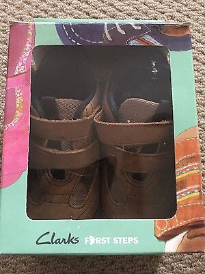 Clarks baby boys shoes first steps size 5