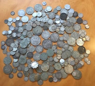 1.150 grams of pre 1947 coins with some pre 1920 coins.