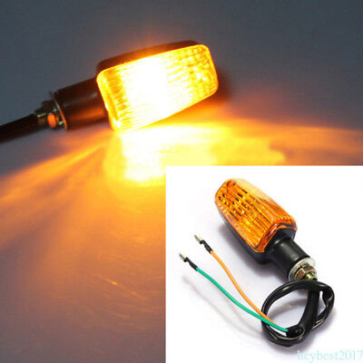 4x 12V 3W Front & Rear Amber Motorcycle Side marker/Turn Signal Indicator Light