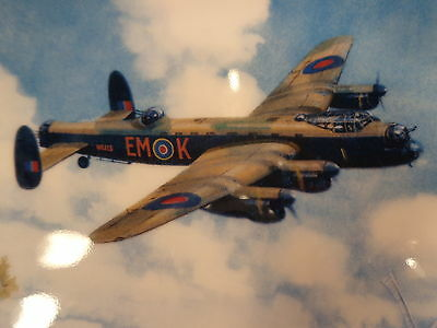 """DOULTON/BRADEX 8"""" LANCASTER LOW OVERHEAD LIMITED EDITION Plate 7077G FREE UKPOST"""