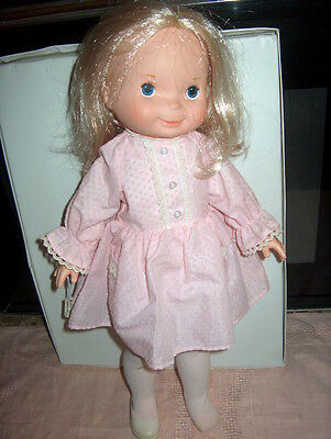 """Fisher Price """"my Friend Many"""" 1970 16 Inch Doll Blonde Hair Blue Eyes # 20141"""