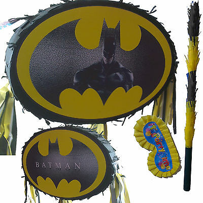 Dark Knight Batman Pinata set Smash Party Fun Dawn of justice Bat Vampire New UK