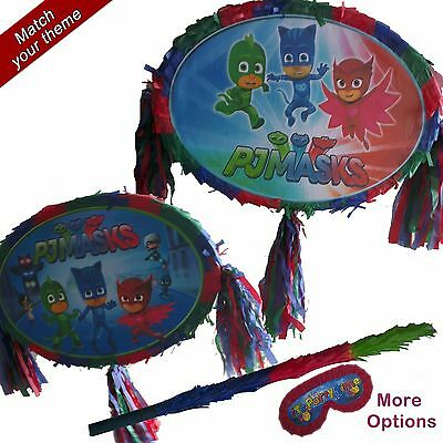 PJ Masks Pinata set Kids Smash Party Fun Stick Owlette Gekko Catboy Romeo Ninja