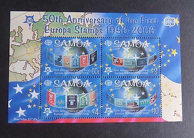 Samoa 2005 50th Ann First Europa stamps  MS1172 MNH UM unmounted mint  (M)