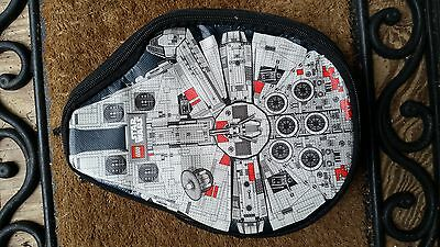 STAR WARS LEGO Zippered Carrying Case Millennium Falcon Storage Box Bin Tote Bag