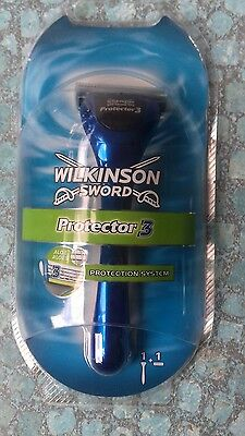 Manche + 1 Lame Wilkinson Sword Protector 3 Neuves