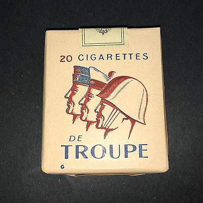 Paquet De 20 Cigarettes Troupe Armée France Tobacco Plein Ancien Pack Old