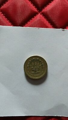 1986 ONE POUND Flax of N.Ireland coin