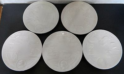 5 Collectible Frankoma Plates Commemorating Bicentennial of War for Independence