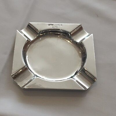 Asprey London Silver Ash tray 1911