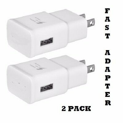 2 PACK- Adaptive Fast Charging Wall Adapter Quick Charge 2.0 Charger For Samsung